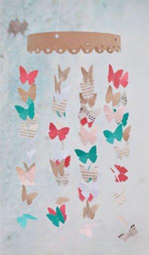 Paper Butterfly Mobile Favecrafts Com