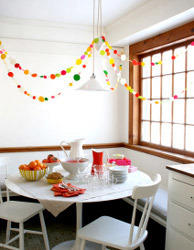 Polka Dot Garland for New Year's Eve