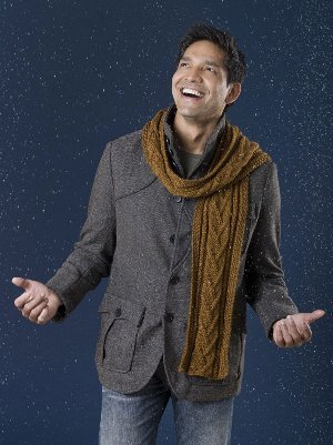 Mens Combo Cable Scarf Pattern Allfreeknitting