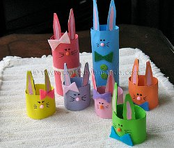 Easter Crafts For Recycled Materials