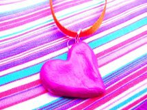 Salt Dough Heart Pendants