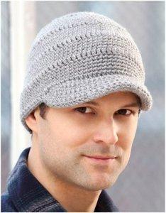 Mens Brimmed Crochet Hat AllFreeCrochet.com