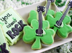 Rock and Roll Shamrock Cookies