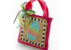 Beautiful Burlap Easter Tote