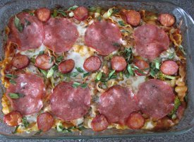 Easy Pizza Pasta Casserole
