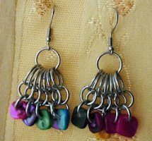 Jewel Tone Cluster Earrings