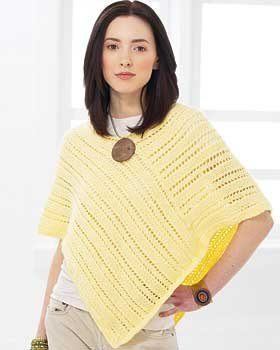 Basic summer poncho allfreeknitting get the hang of poncho knitting with this simple pattern that features a basic poncho shape with lines of lace constructed from delicate yarn dt1010fo