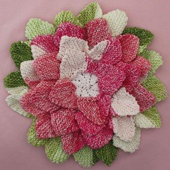 Flower Hotpad Allfreeknitting