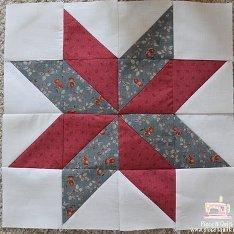 LeMoyne Star Quilt Block | FaveQuilts.com : how to sew a star quilt - Adamdwight.com