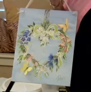 Vintage Heart Wreath Painting Tutorial