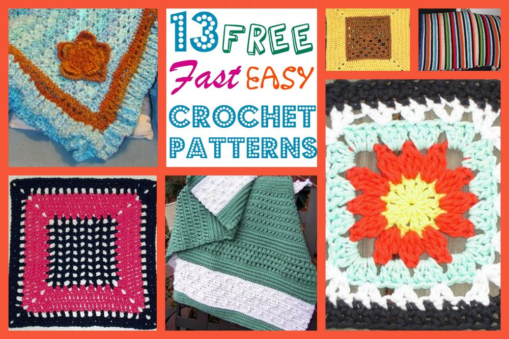 13 Free Fast Easy Crochet Patterns Allfreecrochetafghanpatterns
