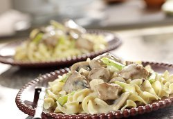 Creamy Swiss Veal & Mushrooms