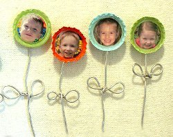 Blooming Bottle Cap Magnets