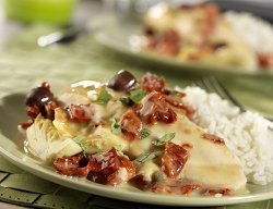 Chicken in Creamy Sun Dried Tomato Sauce