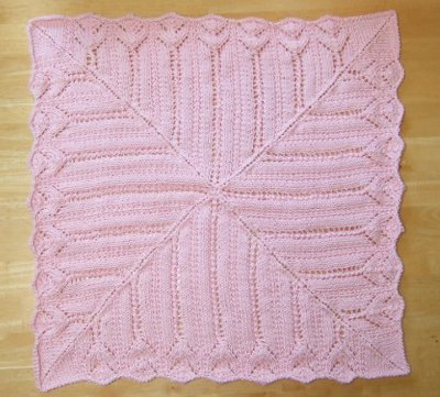 Tiffany Lace Baby Blanket Allfreeknitting