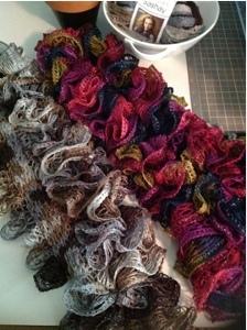 Dachshund Jumper Knitting Pattern : Sashay Yarn Scarves FaveCrafts.com