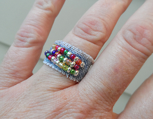Rainbow Jeans Ring
