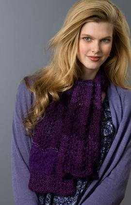 Free Irish Knitting Patterns : Lovely Lace Scarf AllFreeKnitting.com