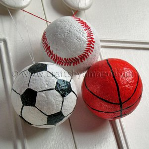 Sports Equipment Ornaments