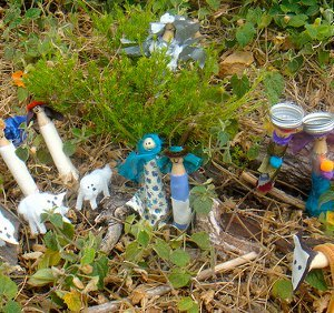Nativity Scene From Recycled Materials