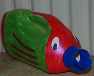 Fish Bottle Bath Toy