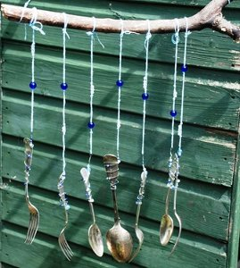 Beaded Utensil Windchimes