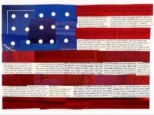 American Flag Story Collage