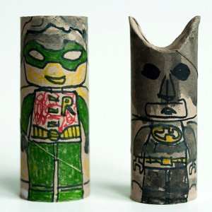 Batman and Robin Tube Toys