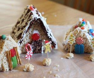 Edible Crafts For Kids Rice Krispie Christmas Village