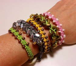 Arm Candy Square Knot Beaded Macrame Bracelets