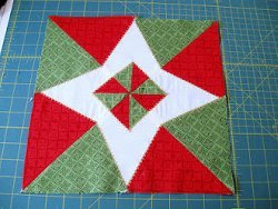 Christmas Star Quilt Block   FaveQuilts.com : christmas star quilt block - Adamdwight.com