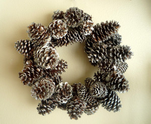 Shimmery Pine Cone Wreath