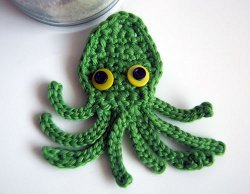 Crochet Octopus Applique