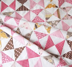 Classic Pink Hourglass Quilt