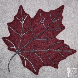 Maple Leaf Applique Block Favequilts Com
