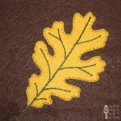 Oak Leaf Applique Block