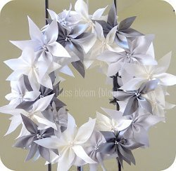 Satin Ribbon Poinsettia Wreath