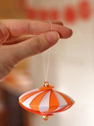DIY Striped Paper Ornament