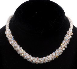 Wedded Bliss Beaded Kumihimo Necklace