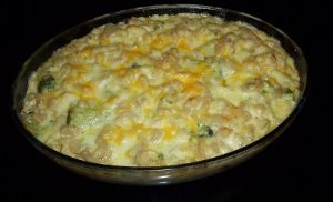 Five-Cheese Macaroni and Cheese with Chicken and Broccoli