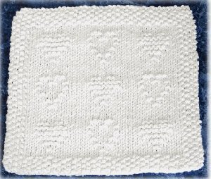 Quilted Hearts Dishcloth