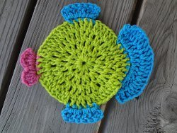 Fabulous Fish Dishcloth