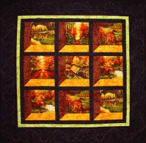 Changing Seasons Attic Window Quilt Pattern | FaveQuilts.com : easy attic window quilt pattern - Adamdwight.com