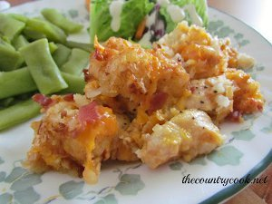 Cheesy Chicken Tater Tot Casserole