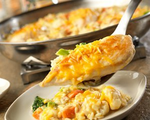 Skillet Cheesy Chicken & Rice
