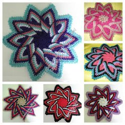 Use Whatever Colors You Have Lying Around To Make Yourself A Colorful Kitchen  Trivet. This Crochet Pattern Is An Excellent Stashbuster Project.