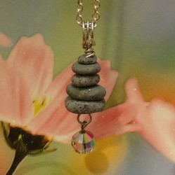 Clay Stacked Stone Necklace