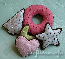 Yummy Fabric Christmas Cookies