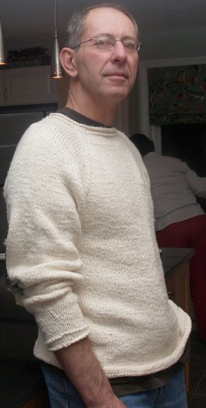 Vanilla Cotton Sweater   AllFreeKnitting.com