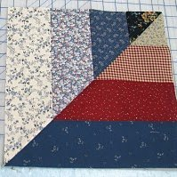 Twisted Rail Fence Quilt Blocks | FaveQuilts.com : rail fence quilt block - Adamdwight.com
